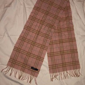 Burberry Cashmere Scarf Pale Pink